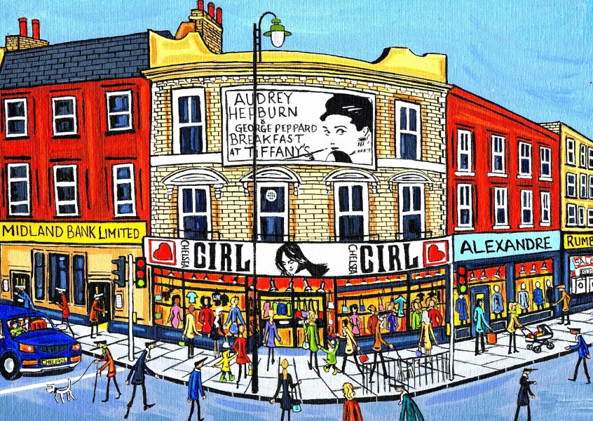 Illustration South London Artist Dan Audrey Hepburn