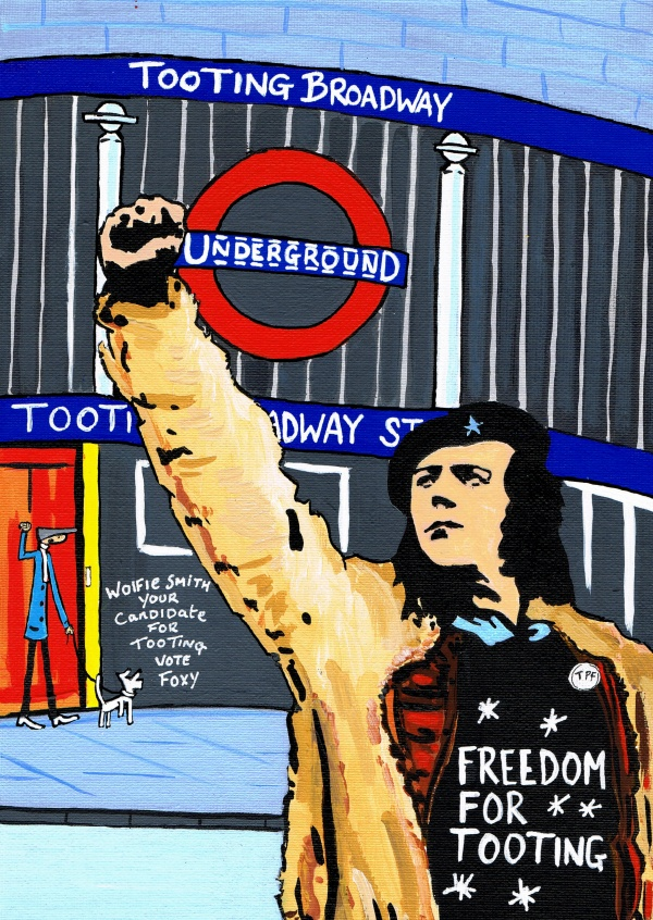 Illustration South London Artist Dan Freedom for Tooting