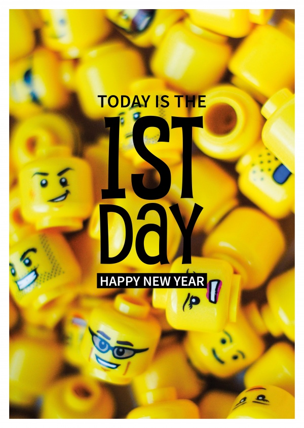 Today is the 1st day. Happy New Year Spruch
