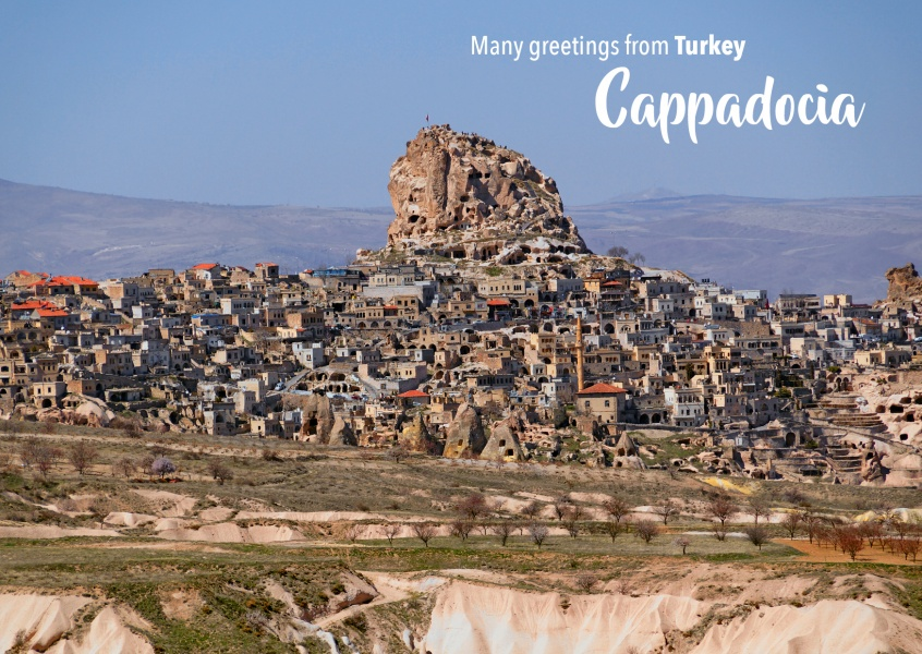 Postcard with photo of Cappadoccia