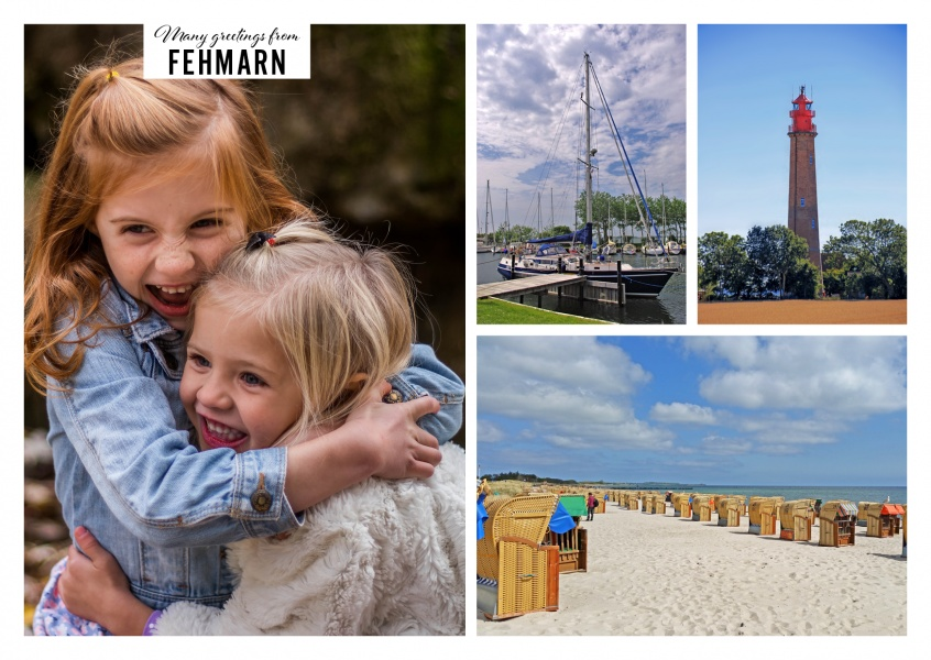 Three Photos of Fehmarn – Boat, lighthouse and beach