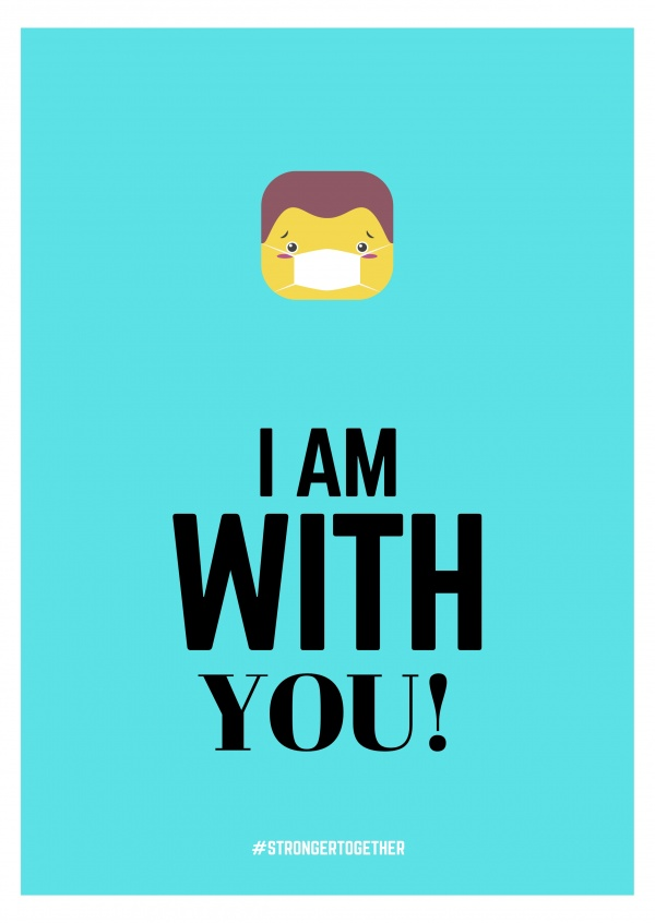 I AM WITH YOU POSTCARD