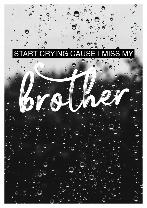 I MISS MY BROTHER Postkartenspruch