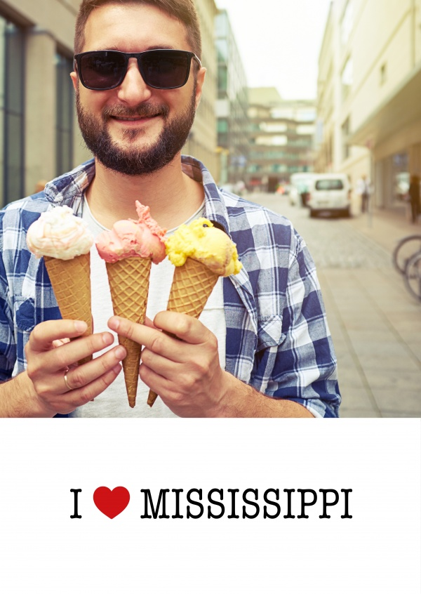 template with I love Mississippi sign