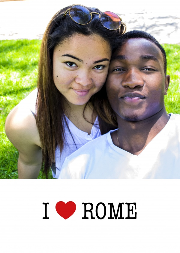 template with I love Rome sign