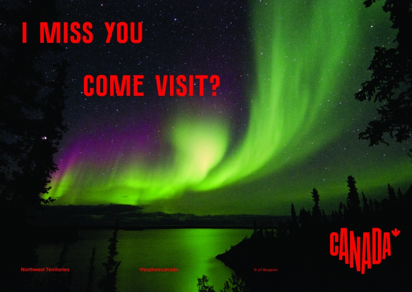 postcard saying I miss you. Come visit?, Northwest Territories - Destination Canada