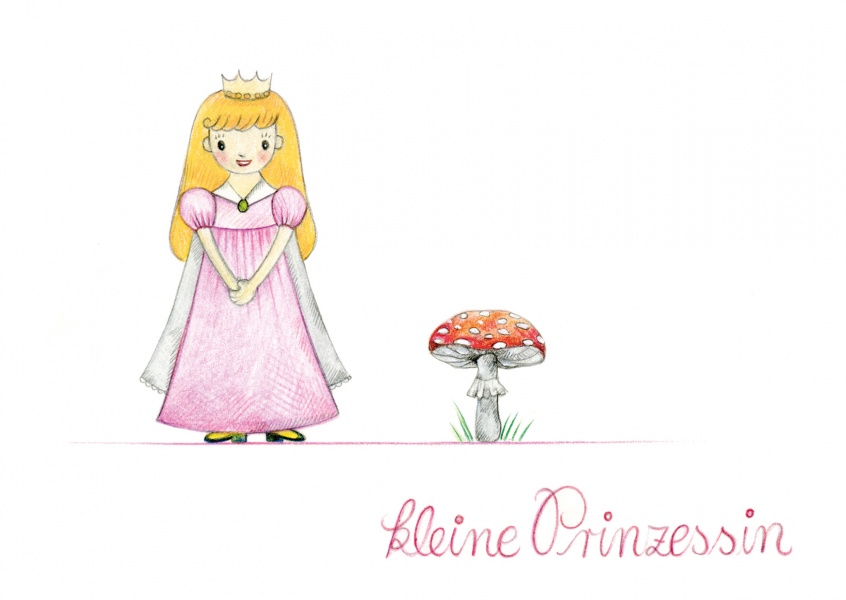 Illustration kleine Prinzessin