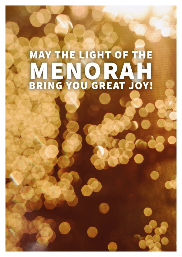 MAY THE LIGHT OF THE MENORAH