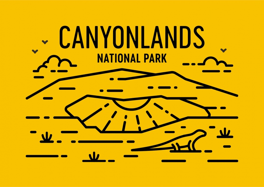 Canyonlands National Park Graphic