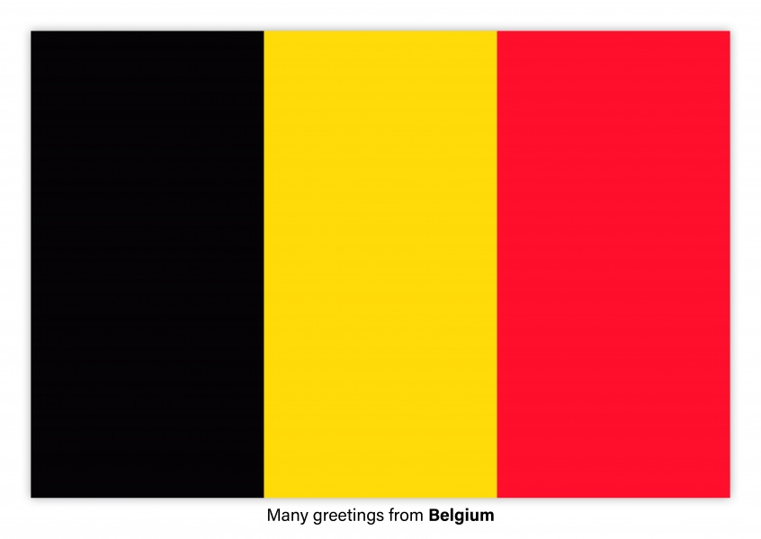 Postcard with flag of Belgium
