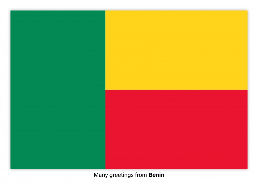 Postcard with flag of Benin