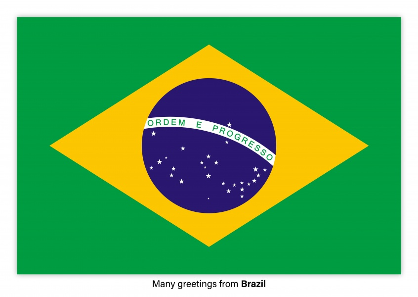 Many greetings from brazil vacation greetings send real postcard with flag of brazil m4hsunfo