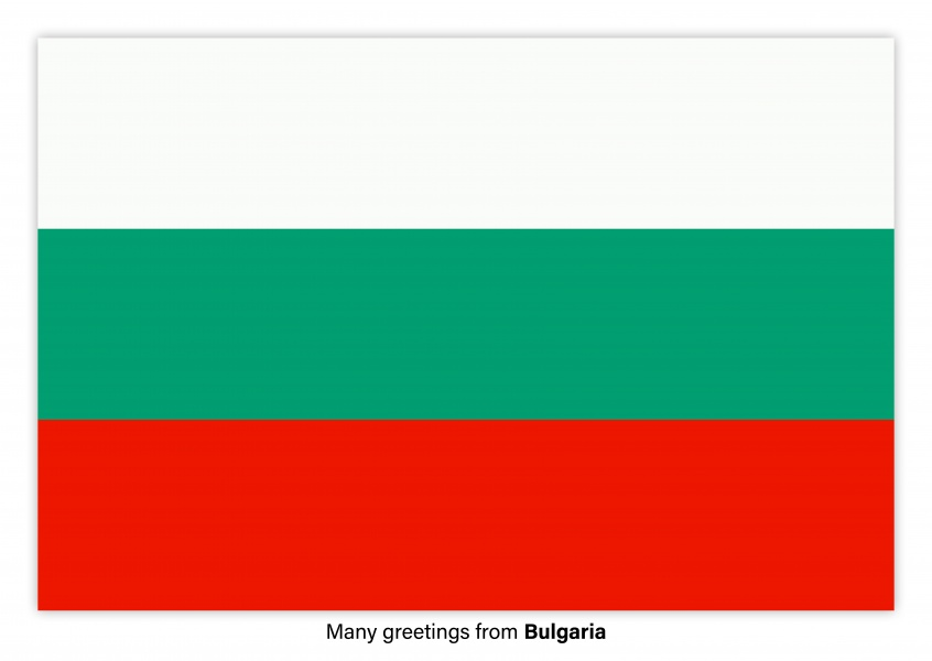 Postcard with flag of Bulgaria
