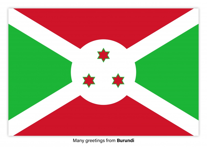 Postcard with flag of Burundi