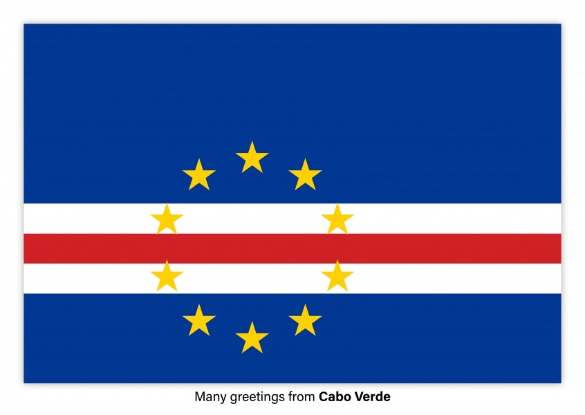 Postcard with flag of Cabo Verde
