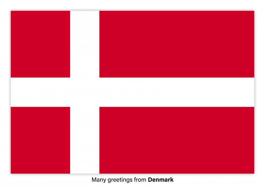 Postcard with flag of Denmark