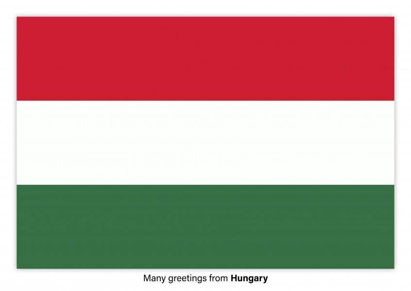 Postcard with flag of Hungary