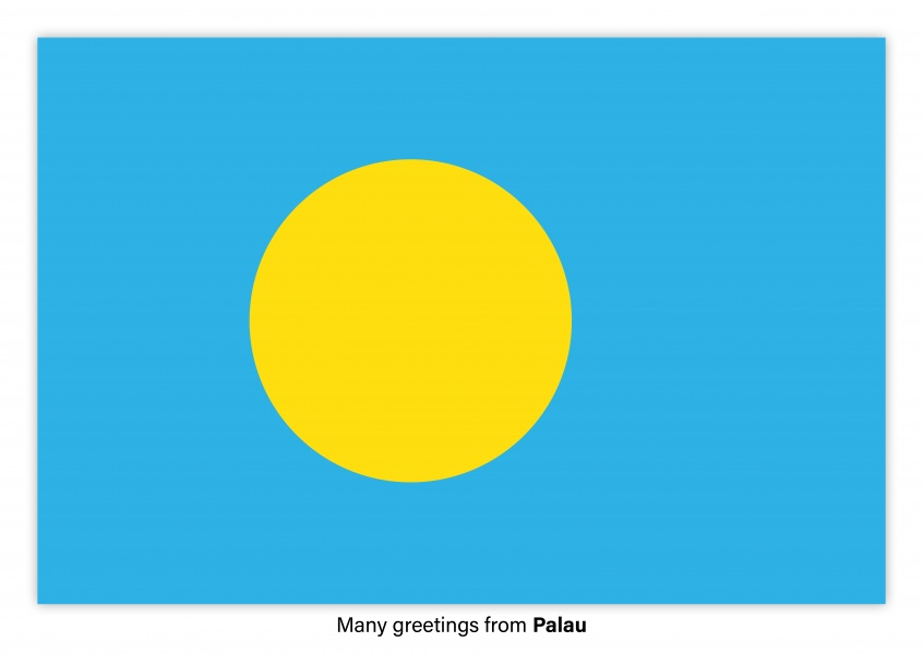 Postcard with flag of Palau
