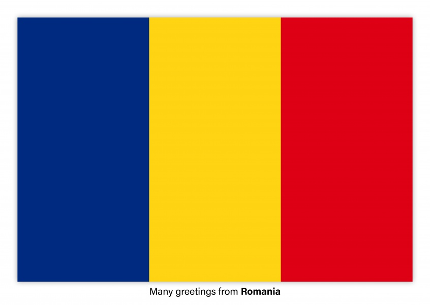 Many greetings from romania vacation greetings send real many greetings from romania postcard with flag of romania m4hsunfo