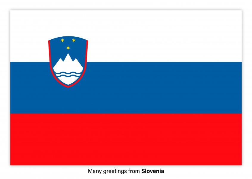 Postcard with flag of Slovenia