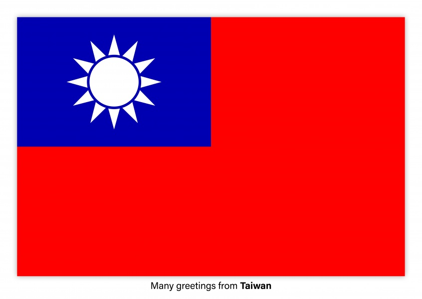 Many greetings from taiwan vacation greetings send real many greetings from taiwan postcard with flag of taiwan m4hsunfo