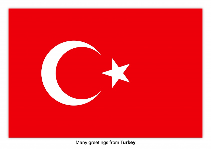 Many greetings from turkey vacation greetings send real many greetings from turkey postcard with flag of turkey m4hsunfo