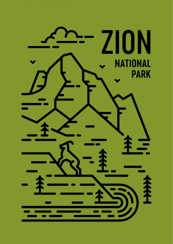 Zion National Park Graphic