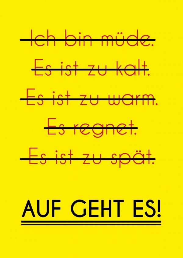motivationsspruch grusskarte ausreden