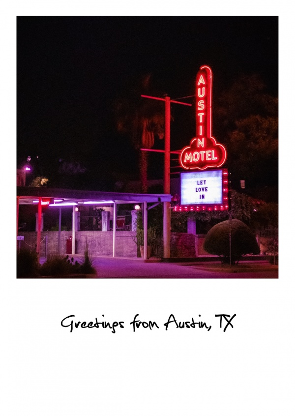 Austin photo of brothel neon sogn