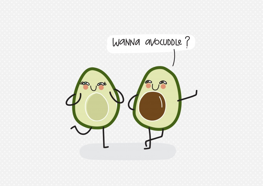 Avocados wanting to cuddle