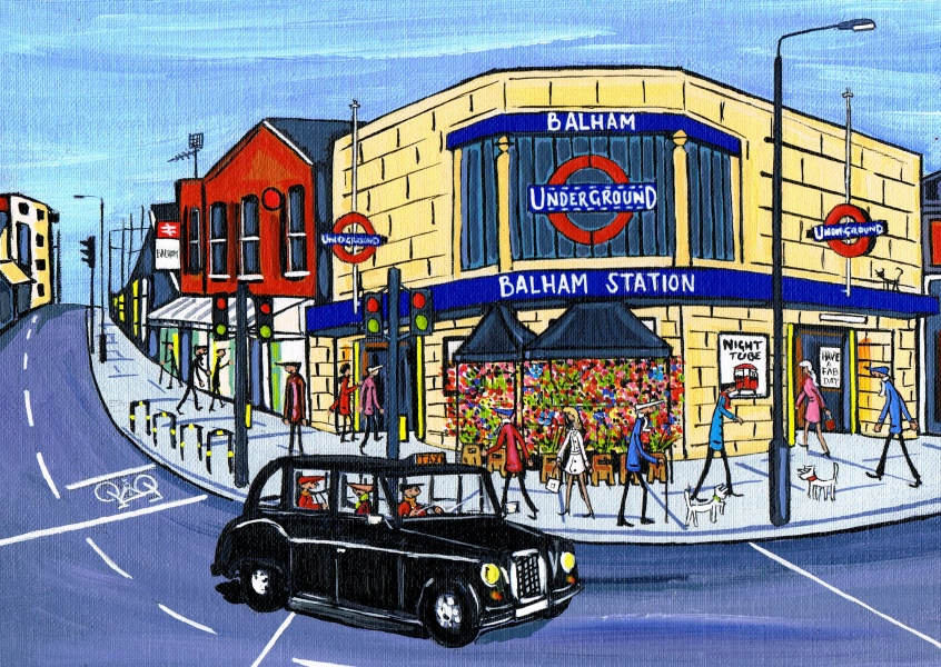 Illustration South London Artist Dan Balham Taxi