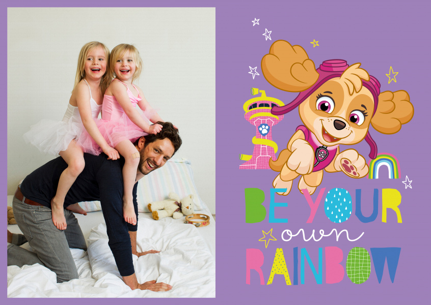 PAW Patrol postcard Be your own rainbow