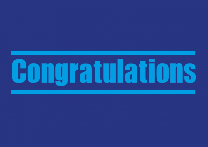 Congratulations card blue