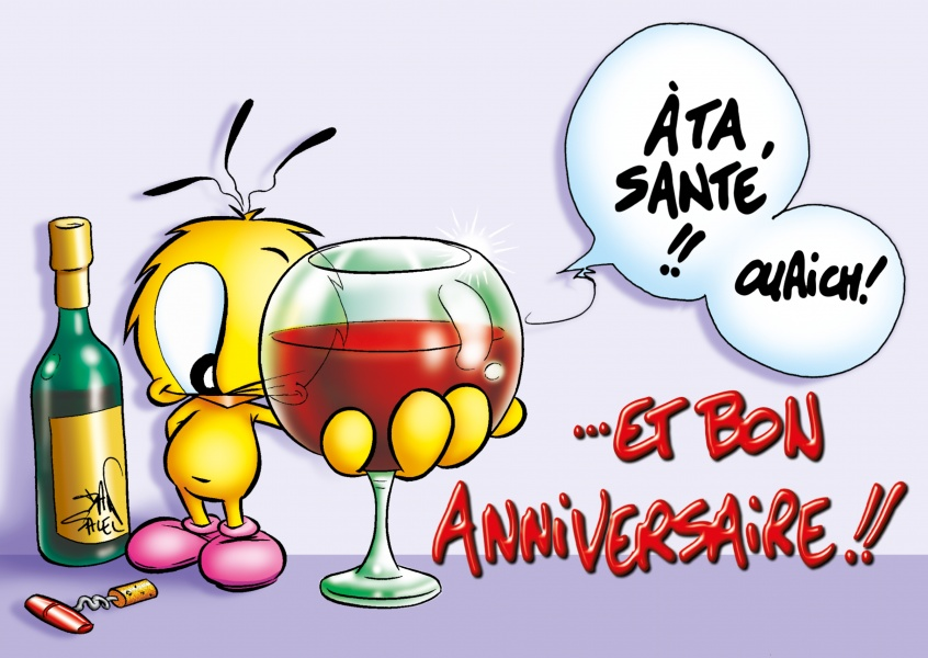 Le Piaf Cartoon Bon Anniversaire