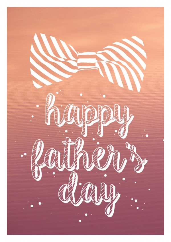 happy father's day withbow tie  illustration