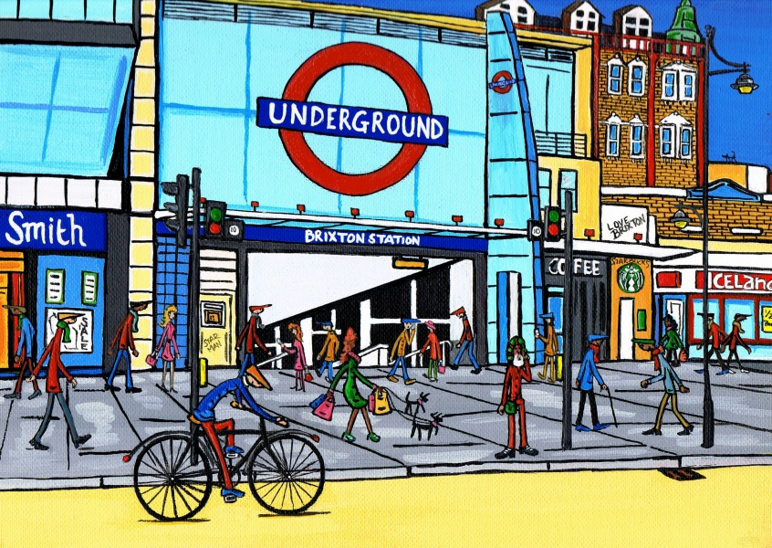 Illustration du Sud de Londres, l'Artiste Dan Brixton station