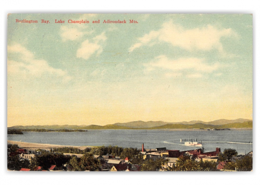 Burlington, Vermont, Lake Champlain and Adirdondack Mountains