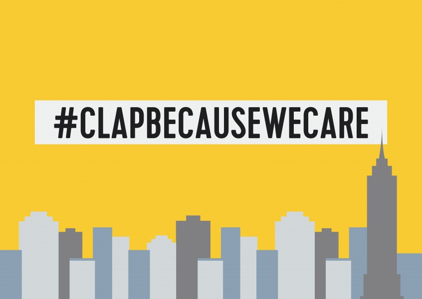 #clapbecausewecare carte postale