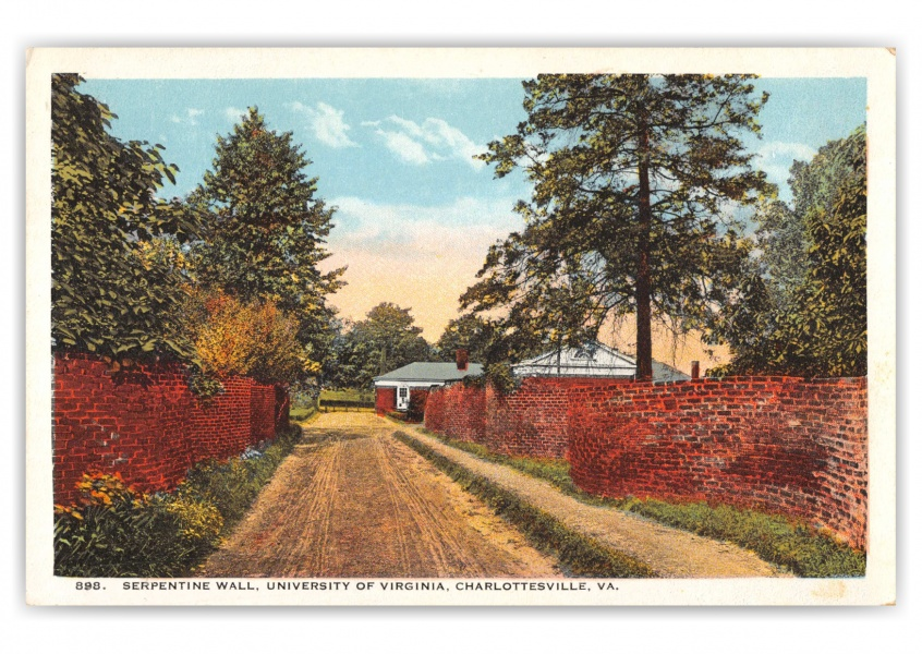 Charlottesville, Virginia, Serpentine Wall, Univeristy of Virginia