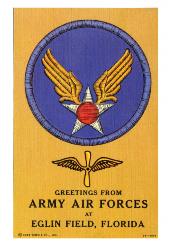 Curt Teich Postcard Archives Collection Army Air Forces Egling Field, Florida