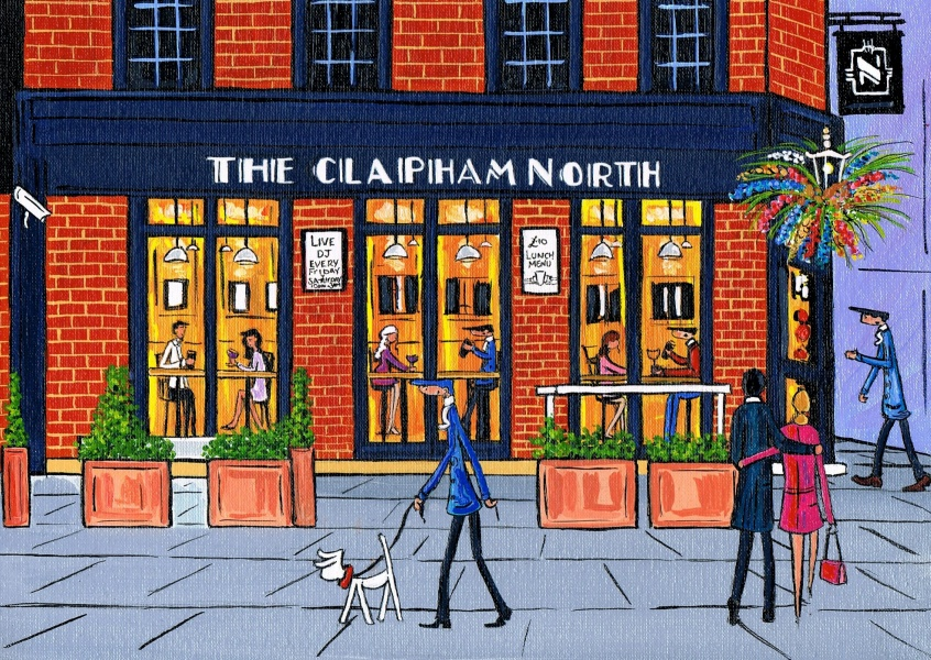 Illustration South London Artist Dan Clapham Clapham North