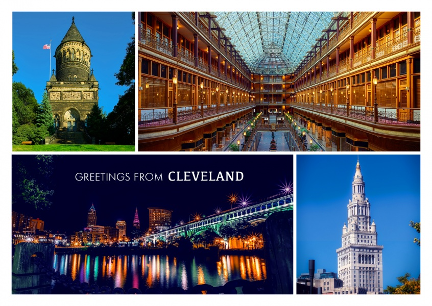 Fotocollage Cleveland