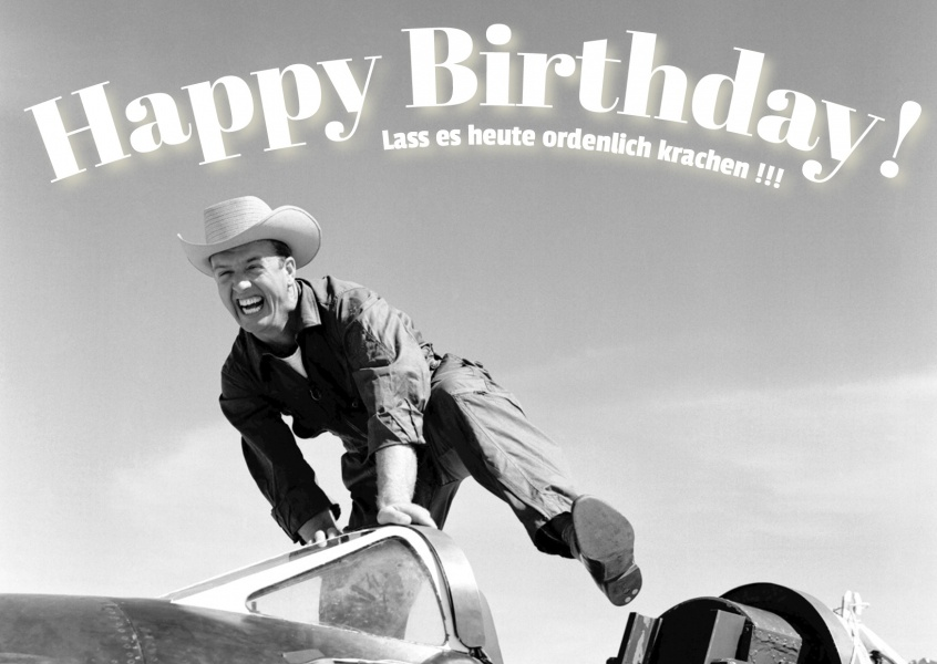 cowboy postkarte happy birthday