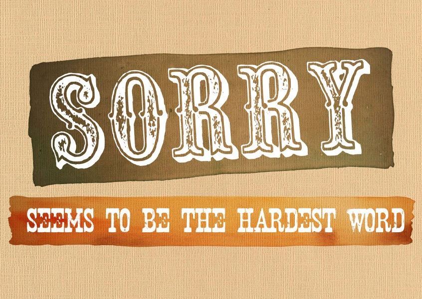 Sorry seems to be the hardest word Postcard