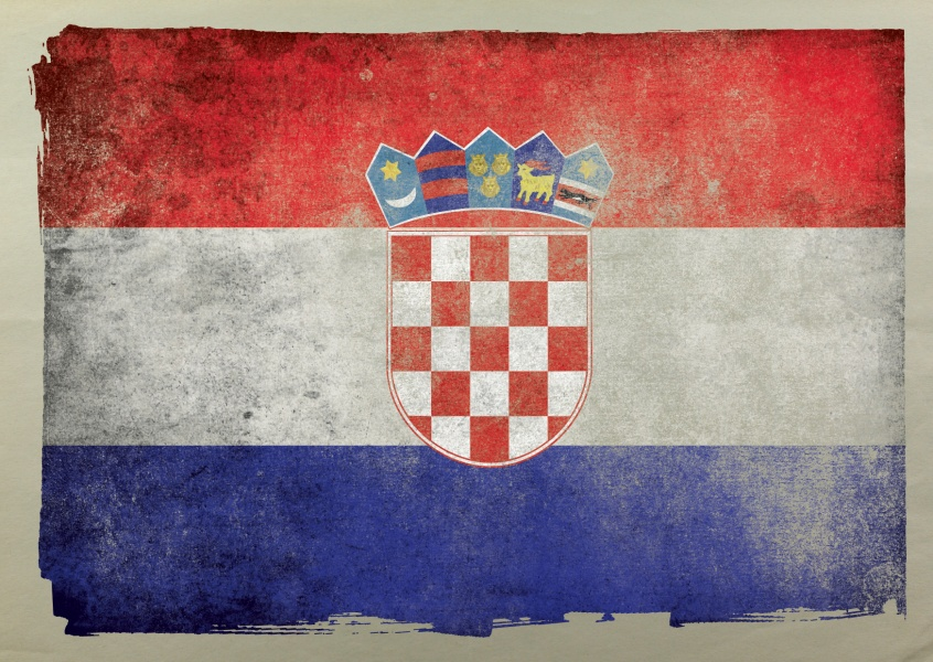 Postcard Croatia flag