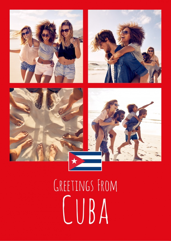 greeting card Greetings from Cuba