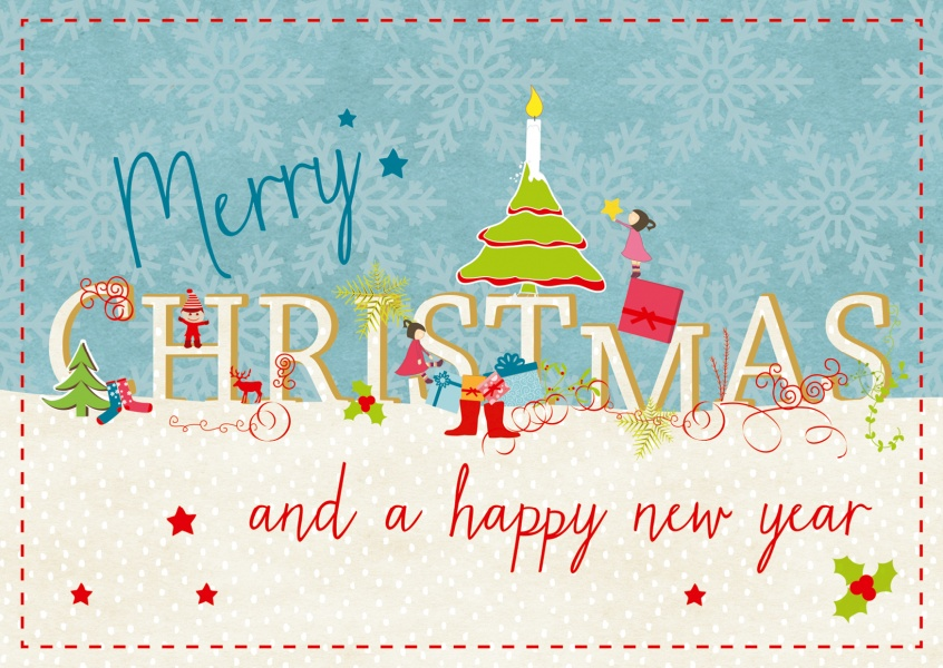 Your own christmas cards printed mailed for you send online hand drawn greeting card merry christmas and happy new year cards m4hsunfo