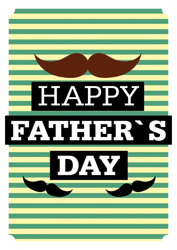 Happy Father's day retro graphic with moustache