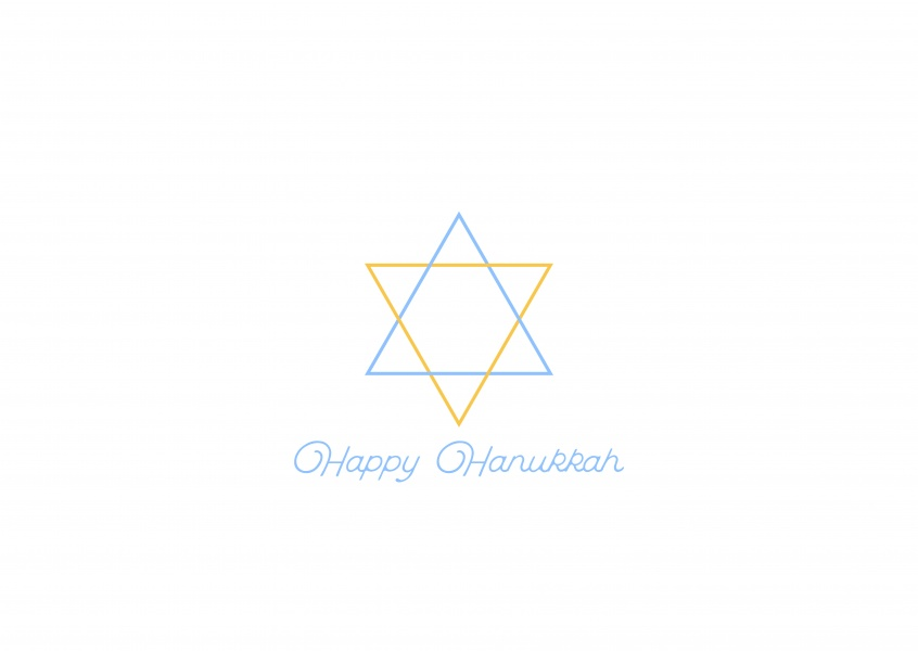 Happy Hanukkah, minimalistic David´s star