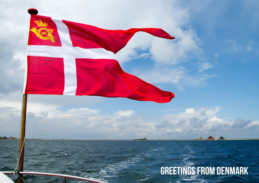 Greetings from Denmark flag Danneborg